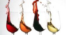 Wine Splashing out of Glass
