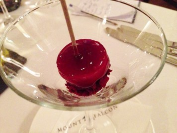 Goat's Cheese & Cherry Lollipop