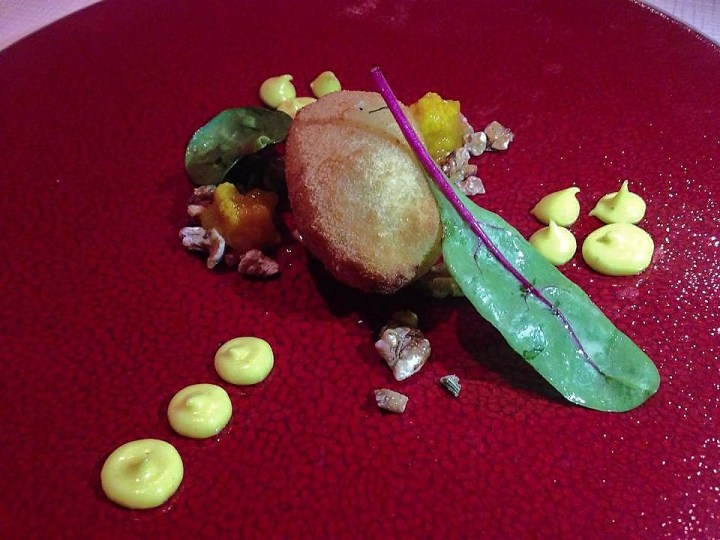 Cod with Curry, Walnut, Piccalilli