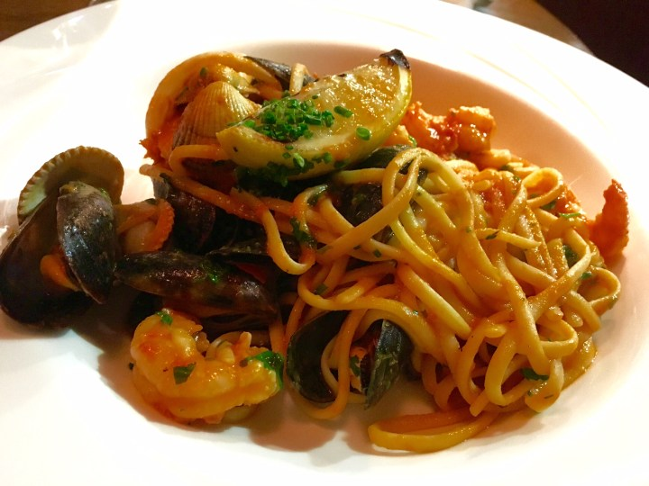 Michaels Seafood Linguine