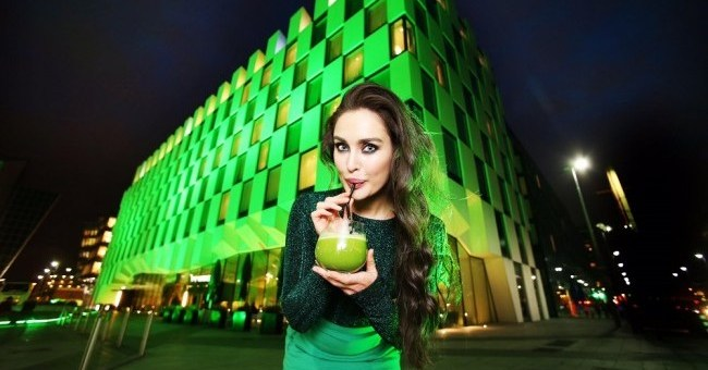 Roz Purcell Turns The Marker Hotel Green for St. Patrick's Festival