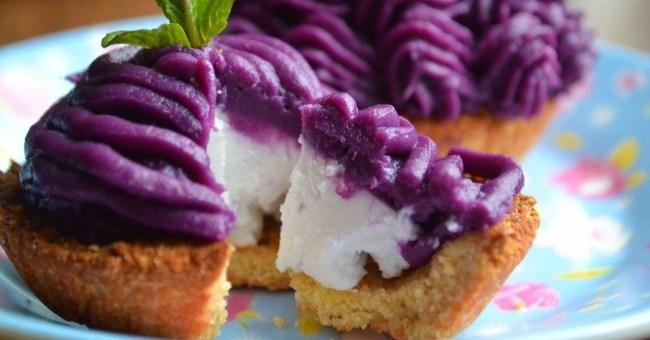 Purple Sweet Potato Mousse Tartlets Recipe by My Nutrition