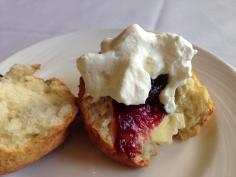 Scone with Raspberry Jam & cream