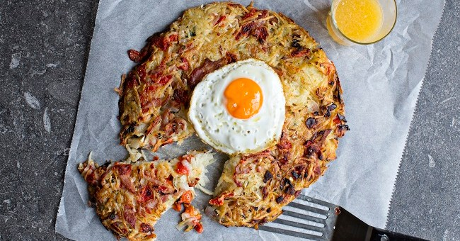 Red Pepper and Bacon Hash Browns Recipe by Chef Gearóid Lynch