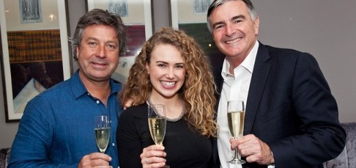 John Torode, Kate Barry and Neil McGuigan at the launch of McGuigans new wines in One Pico