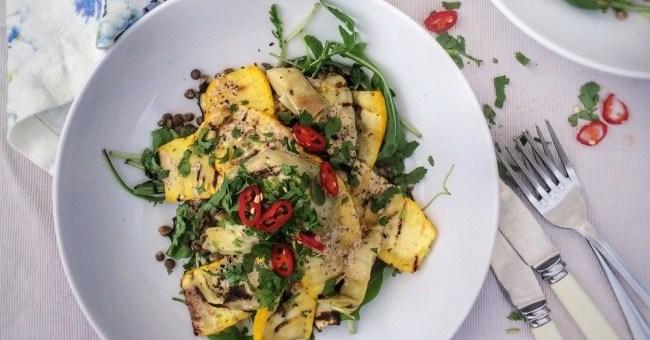 Grilled Courgette & Artichoke Lentil Salad (2) (2)