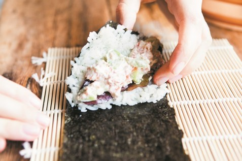 Temaki Hand Roll Sushi Recipe by Fiona Uyema D