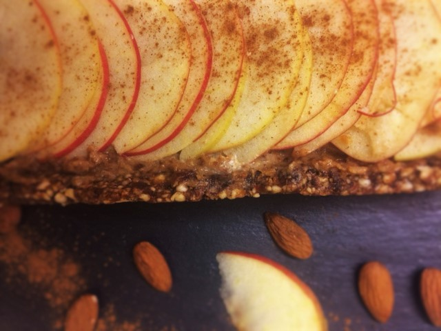 Raw Toffee Apple Tart