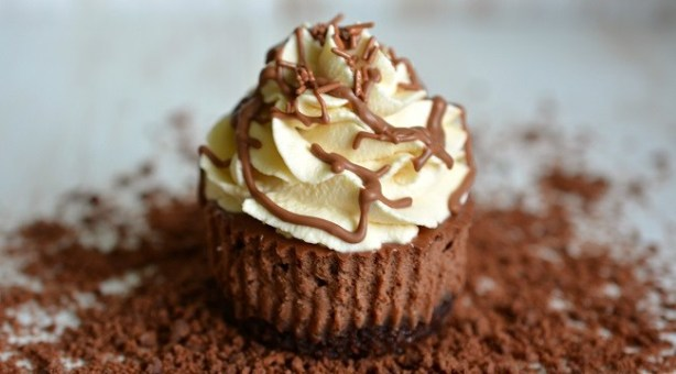 Mini Bailey's Chocolate Cheesecake Recipe by Karyn Ryan