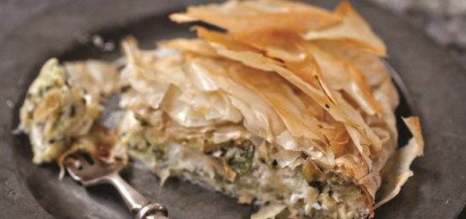 Courgette and Goat's Cheese Filo Pie Recipe from Blazing Salads