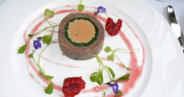Confit of Duck Leg and Goose Foie Gras Ballotine
