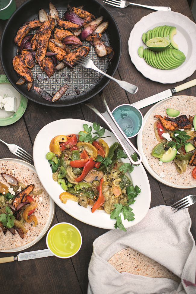 Chicken fajitas recipe jamie oliver thetaste chicken fajitas smoky dressed aubergines peppers jamie oliver enterprises limited 2016 super recipe from super food forumfinder Gallery