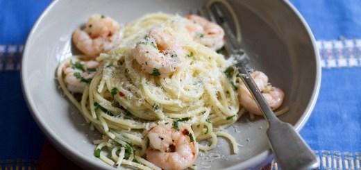 Chilli, Lemon & Prawn Spaghetti Recipe by Jette Virdi