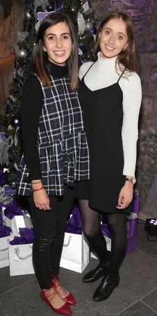 Sarah Ryan and Jessica Kelly at The Loop's Joy of Giving Christmas launch at The Crypt in Chirstchurch,Dublin. Picture Brian McEvoy No Repro fee for one use