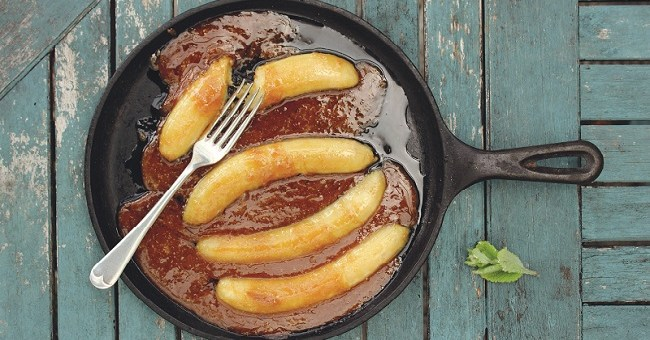 Boozy Butterscotch Bananas Recipe from Fruit on the Table Cookbook