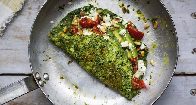 Super Green Omelette Recipe by Donal Skehan