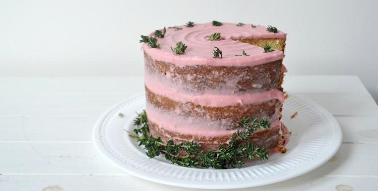 Blood Orange and Thyme layer cake
