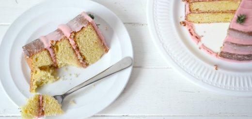 Blood Orange and Thyme layer cake