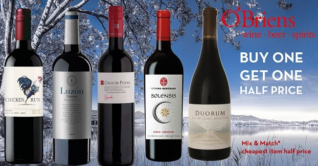 O'Briens Wine Winter Red Wine Sale is Here to Warm you up