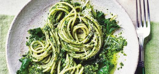 pasta and kale pesto recipe M&S