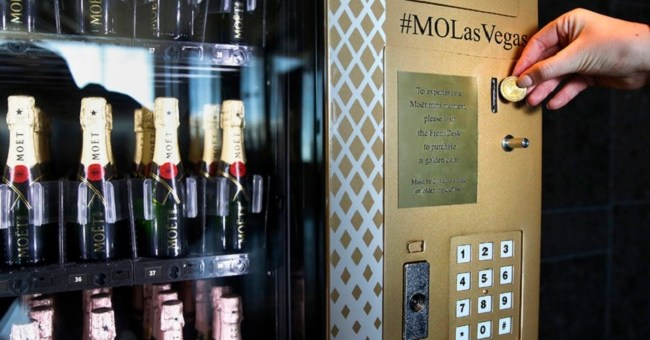 Forget Slot Machines: Las Vegas' Champagne Vending Machine is Where you Want your Token