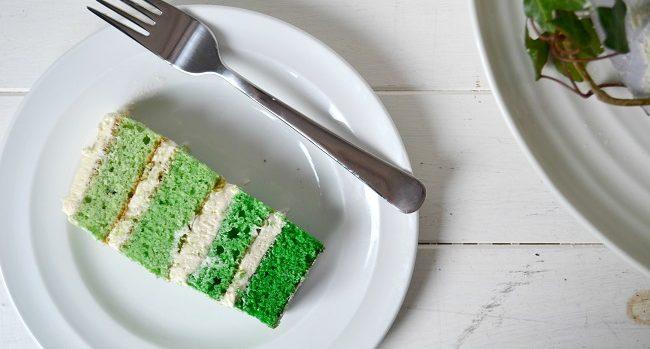 White Chocolate Green Ombre Cake Recipe from Hazel Sheehan