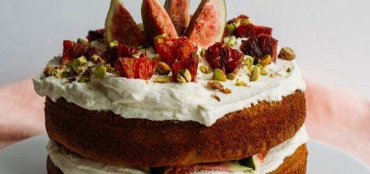 Blood orange spelt sponge cake