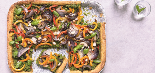 Roasted Pepper and Onion Tart Recipe from Eat Smart