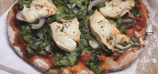 Spinach, Red Onion and Goat's cheese Pizza recipe