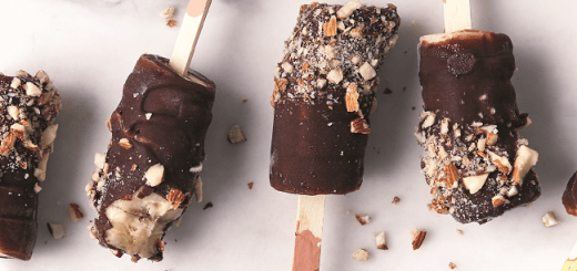 Chocolate Coated Banana Ice Pop Recipe from the Eat Smart Cookbook