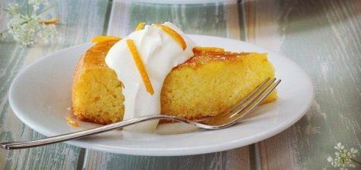 Orange elderflower polenta cake 2
