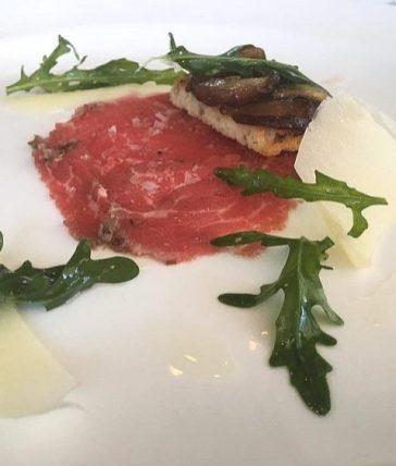 Marlfield House Dinner - Veal Carpaccio