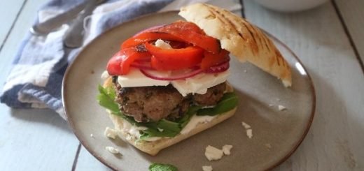Greek Lamb Burger Tasty Easy Lamb