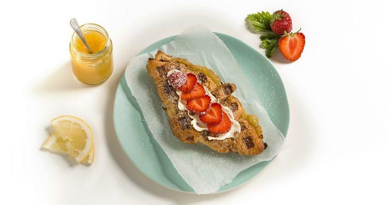 Lemon cheesecake croffle Cuisine de France