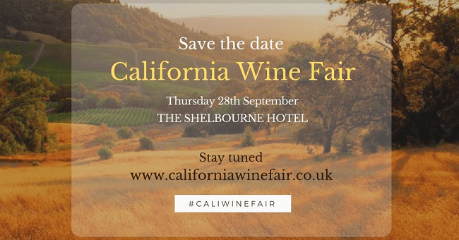 Save the Date California Wine Fair is Coming to Ireland this September