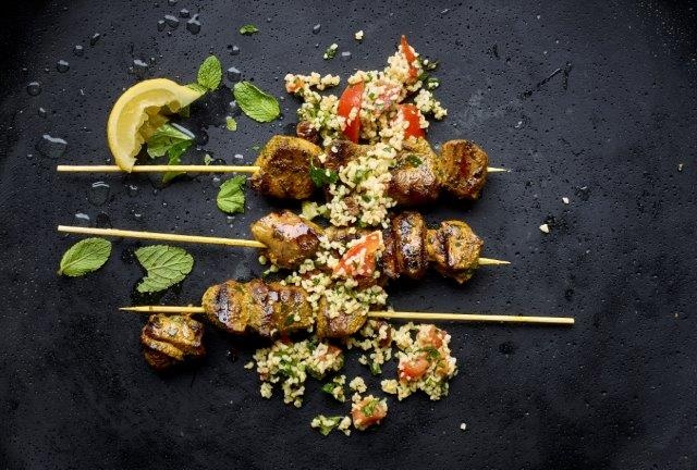 Lamb Kebabs with Spices and Raisin Tabbouleh 2
