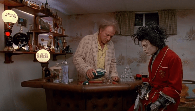 edward scissorhands whiskey in movies