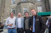Alex Conyngham (Lord Henry's son) - Slane Whiskey, Will Lynch - Slane Whiskey, Micheal O' Flaherty - Slane Whiskey, Gary Byrne - Slane Whiskey, at Slane Castle Co Meath. For the opening of the new Gandon Room Restaurant & Brownes Bar at Slane Castle . Photo: AllenKielyPhotography.com