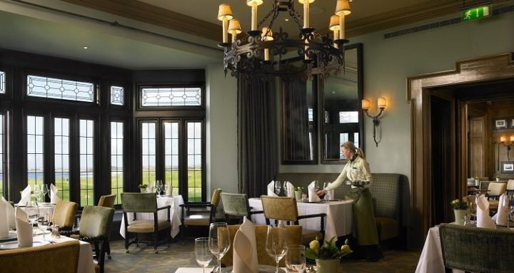 Restaurant at Doonbeg Golf & Spa Resort.