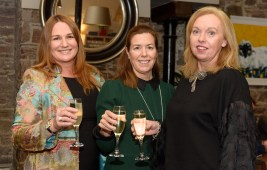 Pictured at the Rh™ne Valley Wine Week Dinner in Greenes Restaurant, Cork, in association with Ch‰teau PesquiŽ and Tindal Wine Merchants , were Gail Cotter-Buckley, Catherine O'Mahony and Breda Buckley from CIT Tourism and Hospitality Department. Picture. John Allen