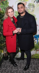 Simone Lukasewicz and Higer Franjotti pictured at The Monkey Haus hosted by Alexander Stein Founder of Monkey 47 at The Wilde Merrion Square, Dublin. Pic Brian McEvoy