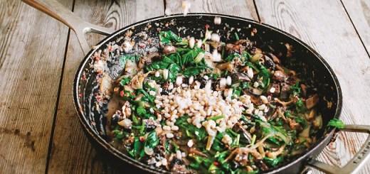 Mushroom and Spinach Spelteree Recipe