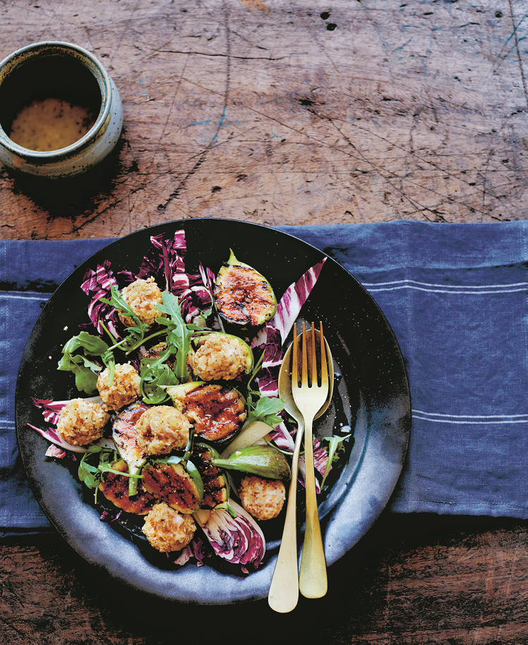 Radicchio & Grilled Fig Salad Recipe 1