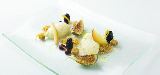 Orange cheesecake recipe with glazed figs