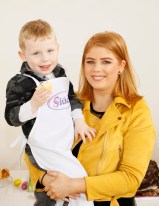 Theo (4) and Lena Wrenn from Clondalkin at Siúcra's Easter event