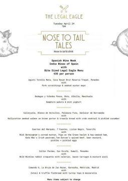 legal eagle menu spanish wine week