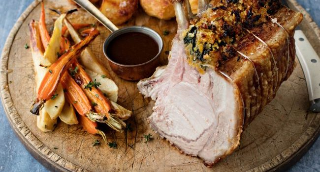Rack of Pork Recipe With Spinach And Apricot Stuffing From Bord Bia