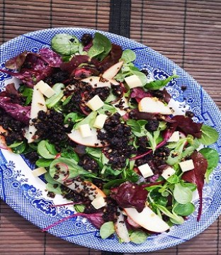 Black Pudding Salad with Honey Mustard Dressing By Sinéad Smyth