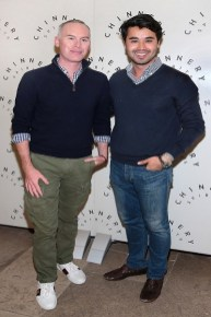Wayne Cronin and Rafael Panna pictured at the launch of Chinnery Dublin Dry Gin