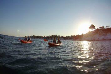 cyprus kayaking at sunset